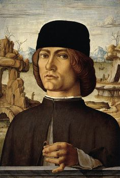 Francesco del Cossa | Portrait of a Man with a Ring 1472-77 Oil on panel, 39 x 28 cm Museo Thyssen-Bornemisza, Madrid
