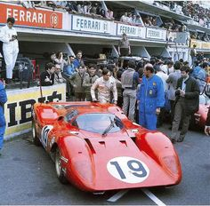 1969, Le Mans 24 hours. Chir Amon and his Ferrari 312P. An incredibly beutiful car. Forever young.