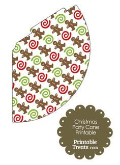 Gingerbread Cookie Party Cone from PrintableTreats.com