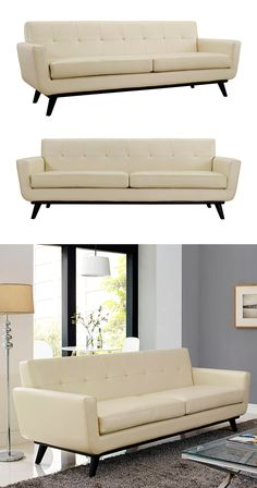 Opt for a little mid-century charm with this elegant Spiers Loveseat. Modeled…