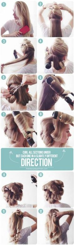 Fake a Blowout Using a Curling Iron