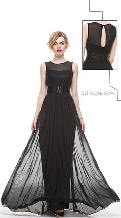 Simple, clean, elegant, It's a superb evening dress. #JJsHouse