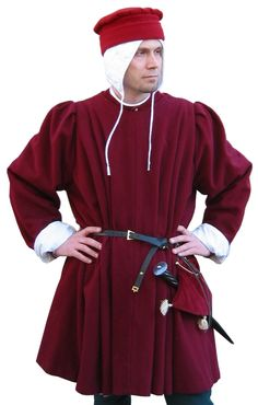 Pleated surcoat of Medieval Costume (Man) for sale - Pleated surcoat of Medieval – Medieval Clothing – Medieval Costume (Man) – Surcoat with pleats on both front and back. Source by janni_who - Medieval Costume, Medieval Dress, Medieval Clothing, Historical Costume, Historical Clothing, Historical Photos, 15th Century Clothing, 15th Century Fashion, Mens Garb