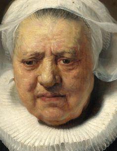Rembrandt - Portrait of Aechje Claesdr (detail)