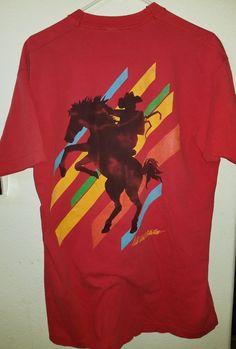 89795b259 Marlboro Cigarettes Wild Wild West Collection Pocket T-Shirt Size XL Vintage