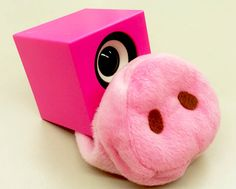 A lovely nose.  I borrow a nose  from a friend's pig!!  So cute!!可愛いお鼻。友達のブタさんに借りてきちゃいました!とっても可愛い♡