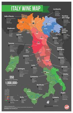 Italy Wine Regions Map
