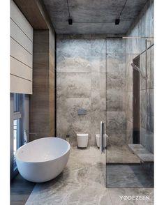 Marble Bathroom in Tbilisi YØ DEZEEN --- via @homeadore_decor