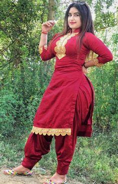 Punjabi dress Indian Girl Bikini, Indian Girls, Red Indian, Beautiful Girl Indian, Beautiful Indian Actress, Beautiful Suit, Beautiful Women, Desi Girl Image, Most Beautiful Bollywood Actress
