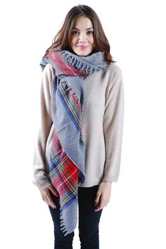 absolute comfort — Plaid Wool Scarf