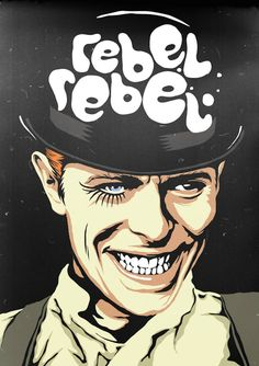 REBEL REBEL - David Bowie Pop Culture Posters