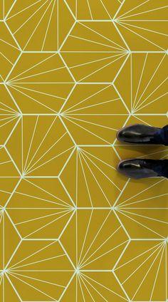 Erich Erich Daniela Di Canto danieladicanto Renovation Starburst is an Art Deco . - Erich Erich Daniela Di Canto danieladicanto Renovation Starburst is an Art Deco Tile Vinyl Flooring design featuring a bright and colourful nbsp hellip vinyl Flooring Vinyl Flooring Bathroom, Bathroom Vinyl, Art Deco Bathroom, Vinyl Tiles, Bathroom Floor Tiles, Bathroom Layout, Kitchen Tiles, Tile Floor, Small Bathroom