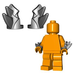 Protecting your LEGO® minifigures' arms is important, but why not combine it with a weapon and throw some blades on it? Lego Minifigure Display, Lego Custom Minifigures, Scrap Mechanics, Lego Craft, All Lego, Lego Mecha, Lego Military, Cool Lego Creations, Lego Parts
