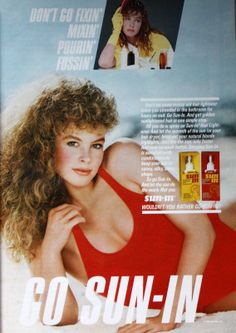Sun-In hair lightener -- I used it the summer before 8th grade and it turned my hair orange! :-)