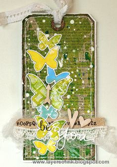 Layers of ink - Vibrant Happy Inky Tags