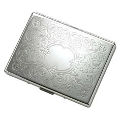 Single-Sided Silver Cigarette Case - Create A Favor
