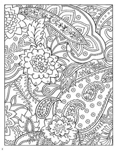 Dover Paisley Designs Coloring Book  from Mariska den Boer board - Zentangle Coloring Pages, she has wonderful boards, all on zentangle.