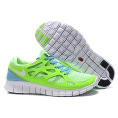 Nike Free Run+ 2 Grün Lichtblau Weiß Männer