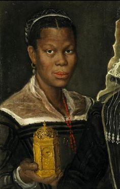 """An unidentified EUROPEAN QUEEN of the medieval period. Remember, Europe was under the rule of majority BLACK/MULATTO MONARCHS until the whites took power around 1848. Henry VIII, Phillips II and Charles V were all black men;you already know that, right? Princeton University Art Museum Opens """"Revealing the African Presence in Renaissance Europe"""" Exhibit on February 16th"""