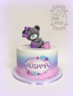 Tatty Teddy Cake , purples and pinks Buttercream Cake, Fondant Cakes, Cupcake Cakes, Baby Girl Cakes, Cake Baby, Teddy Bear Cakes, Animal Cakes, Crazy Cakes, Love Cake