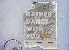 amp - Poster Design - I'd rather dance with you Dance With You, Amp, Poster, Design, Billboard