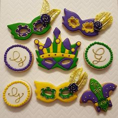 Hey, I found this really awesome Etsy listing at https://www.etsy.com/listing/254537354/mardi-gras-cookies