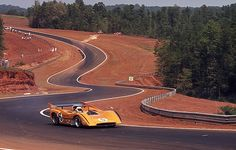 McLaren M8D #5 driven by Denny Hulme blasting through the Esses at Road Atlanta in September 1970 Can Am Race