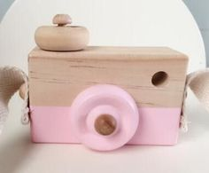 INS Baby Kids Cute Wood Camera Toys Children Fashion Clothing Accessory Room Decor Safe And Natural Wooden Camera Handle Toy