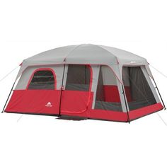 Ozark Trail 10 Person 2 Room Cabin Tent  Camping Outdoor 14' x 10' Red New | Sporting Goods, Outdoor Sports, Camping & Hiking | eBay!