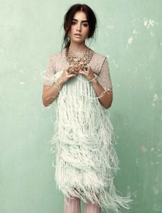 Lilly Collins on mint