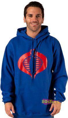 Cobra logo hooded sweat-capuche Hoodie-commandant GI Joe Destro culte
