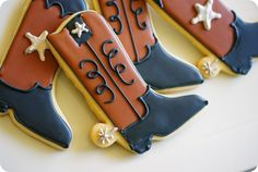 Texas boots cookies