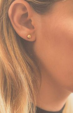 Bony Levy 14K Ball Stud Earrings (Nordstrom Exclusive) | Nordstrom Metal Jewelry, Boho Jewelry, Gemstone Jewelry, Silver Jewelry, Handmade Jewelry, Jewellery, Pearl Stud Earrings, Boho Earrings, Anniversary Jewelry