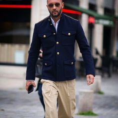 """""""Last week on my way to Louis Vuitton show , wearing my new collection for Ports 1961 autumn winter 2015/16. The perfect #military #jacket #cool #chic…"""""""
