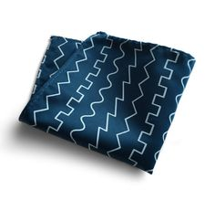 Oscillator waves pocket square. Square, saw, triangle & sine wave stripe print mens handkerchief. Did you think wed just make a plain ol geometric striped design? Of course not! This is for all you electronic music lovers and tinkerers of all things that go bleep and bloop. Our stripes range from the smooth sound of a sine wave, to the harmonically rich buzz of a sawtooth wave. Original Illustration. Shown first: in French blue; then: spiced wine, black, white and silver. You can get crea...