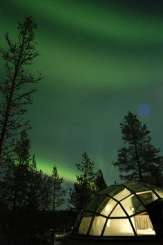 glass domed igloos in finland - Google Search