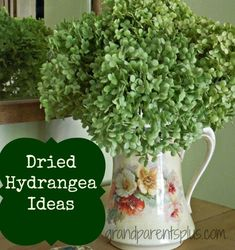 Dried Hydrangea Ideas Detail on how to dry hydrangeas and use them in decorating your home. Easy to do ideas!
