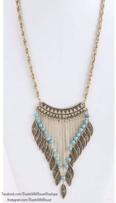 Boho necklace- love the detail  #onlineshopping #fashionista #springtrends #rusticwildflower
