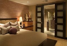 asian decorating ideas | Asian style bedroom inspiration with built-in tansu-like nightstands ...