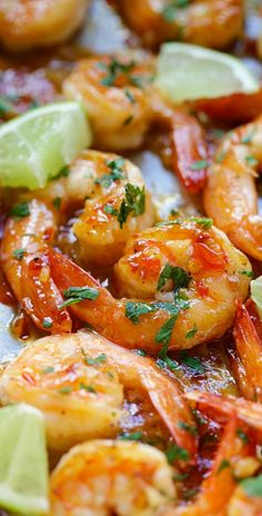 Sweet chili-garlic shrimp - easiest and most delicious shrimp you can make in 15 mins. Sticky sweet, savory with a little heat. Fish Recipes, Seafood Recipes, Asian Recipes, Cooking Recipes, Spicy Shrimp Recipes, Thai Sweet Chili Sauce, Sweet Chilli, Sweet Chili Shrimp Recipe, Sweet And Spicy Shrimp