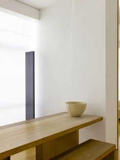 Interior of the Claudio Silvestrin apartment by Claudio Silvestrin.