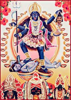 Mother Kali, Divine Mother, Rudra Shiva, Shiva Shakti, Kali Hindu, Hindu Art, Goddess Art, Durga Goddess, Neem Karoli Baba