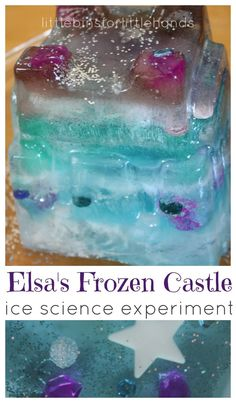 Make Elsa's Frozen castle for a great Frozen inspired activity. Our frozen castle ice melting experiment is perfect science and sensory play for Frozen fans