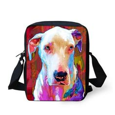 Women Messenger Bags Colorful Pet Dog Shoulder Bag Cross Body Bag Pug Bulldog Messenger-Bag for Woman