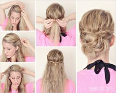 Styles for wet hair- perfect when you're just out of the shower and don't have time to blowdry
