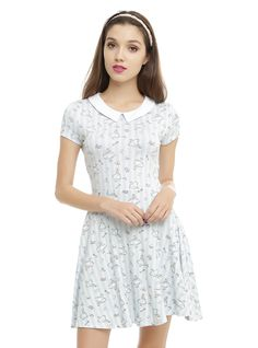 """It would be so nice if something made sense for a change.""<br><br>Well this makes sense: Ultra-soft striped dress featuring an Alice-themed print with hearts, tea cups, potions, keys and more - and a cute white collar. No need to go down the rabbit hole. Your new favorite dress is here.<br><ul><li style=""LIST-STYLE-POSITION: outside !important; LIST-STYLE-TYPE: disc !important"">32"" long from shoulder</li><li style=""LIST-STYLE-POSITION: outside !important; LIST-STYLE-TYPE: disc…"