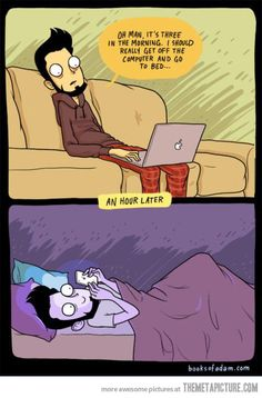 Mostly every night…
