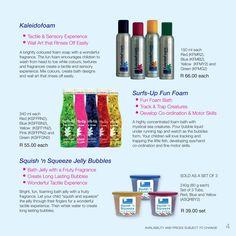 Kaleidofoam, Surfs-Up Fun Foam, Squish-n-Squeeze Jelly Foam Bright Colors, Colours, Surfs Up, Bath Design, Encouragement, Fragrance, Advertising Ideas, Soap, Wall Art