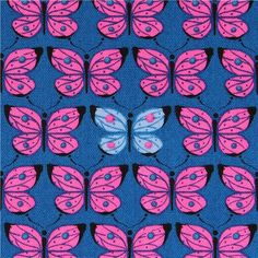 dark blue butterfly animal Oxford fabric from Japan 1