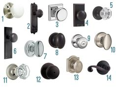 Lots of great knob choices for when I replace the ugly gold knobs on my doors.